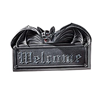 Nemesis Now Panneau Welcome to Hell Noir 22 cm