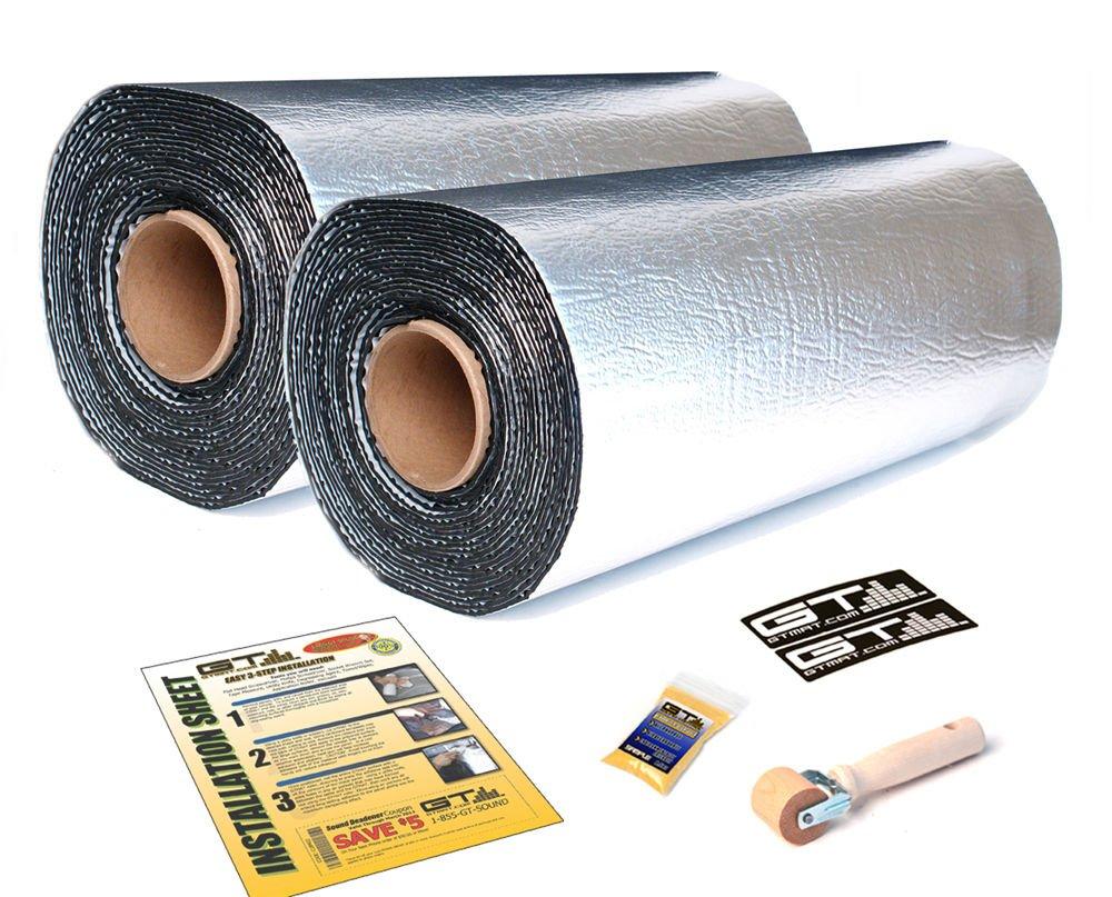 GTMat 16 SQFT Supreme 4 Rolls of 110mil 18''x32'' Car Sound Deadener Self Adhesive Peel & Stick Aluminum Barrier Noise Dampener