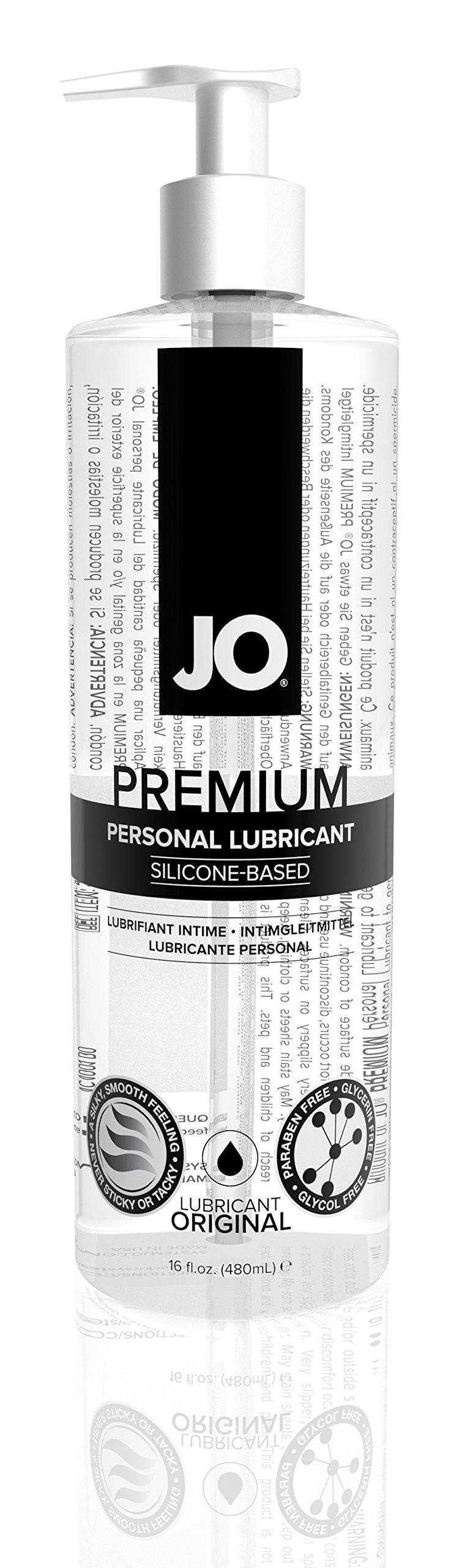 JO Premium Silicone Lubricant - Original (16 oz) by System Jo