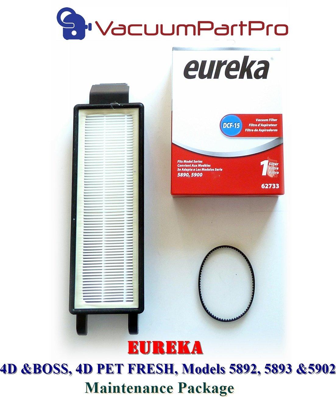 Amazon.com - Eureka 4D Boss, Pet Fresh Bagless Upright Filter Kit. Fits  5892AVZ, 5892BVZ, 5893AVZ, 5893BVZ, 5902AVZ, 5902BVZ -