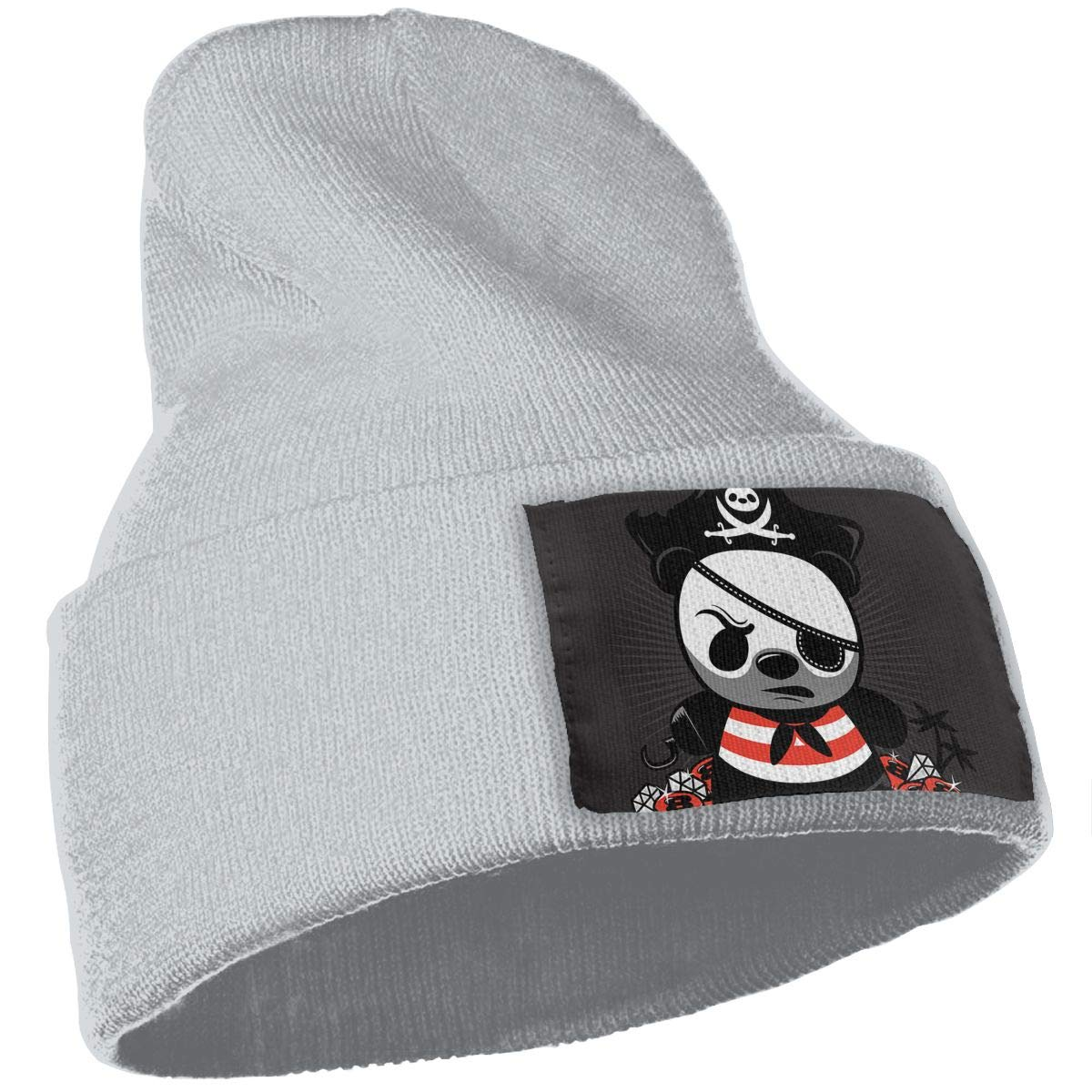 JimHappy Pirate Panda Hat for Men and Women Winter Warm Hats Knit Slouchy Thick Skull Cap Black