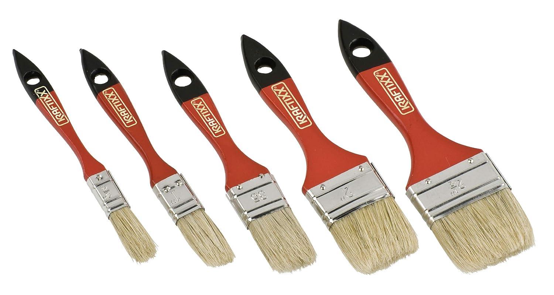 5-teiliges Maler-Set f 30 20 15 50 mm Breit 40 Lasur-Pinsel kwb 031090 Flach-Pinsel-Set Lasur