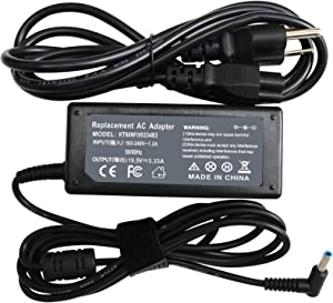 65W 19.5V 3.33A Ac Adapter Laptop Charger for HP EliteBook 840 G3 G4 G5 850 G3 820 Pavilion x360 Charger 15-f272wm 15-f387wm 17-g121wm 17-g119dx Laptop Notebook Power Supply Cord Plug