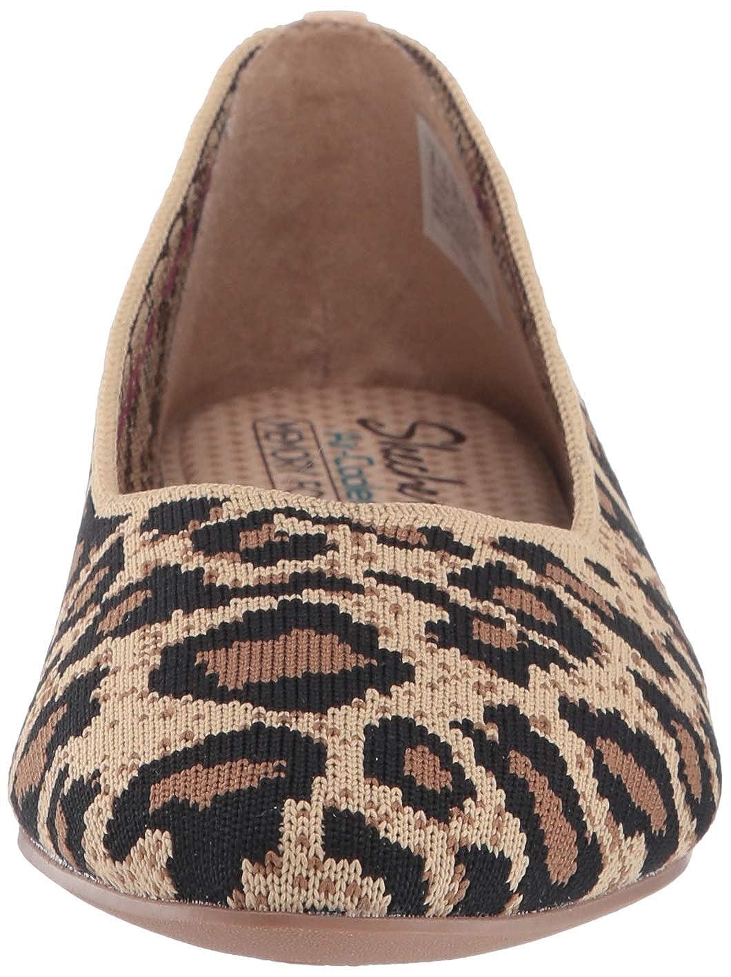 Skechers Damen Cleo - Claw-Some Geschlossene Ballerinas Braun (Natural Flat Knit Nat)