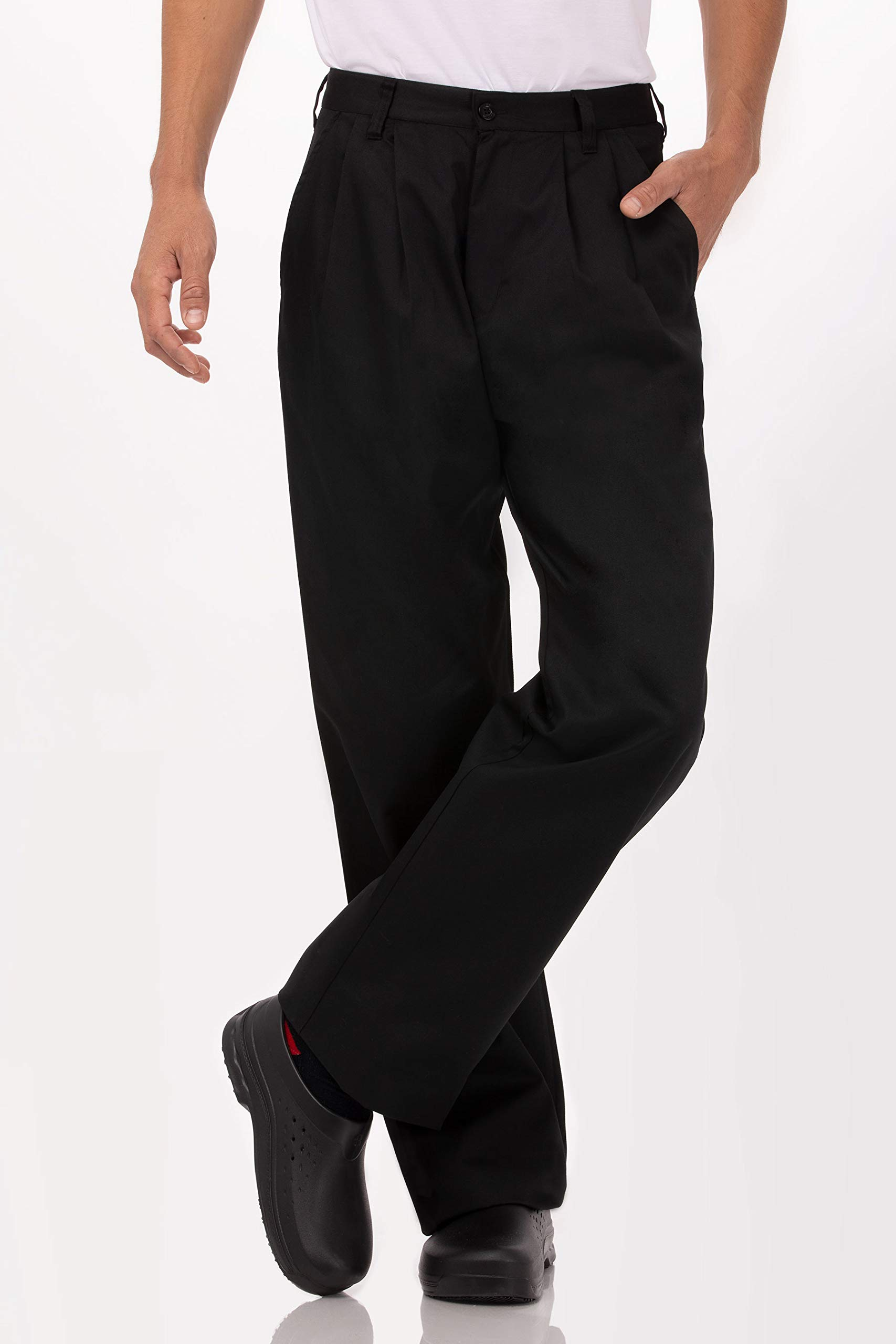 Chef Works Men's Basic Chef Pant, Black, 54 by Chef Works