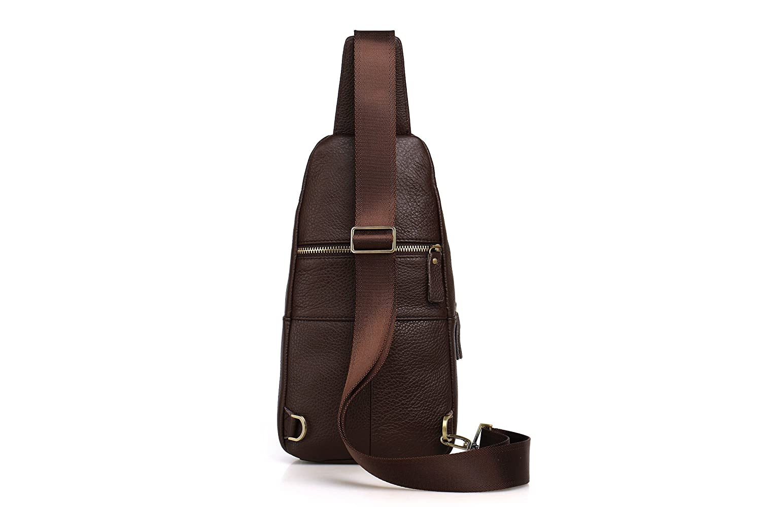 Genda 2Archer Mens Small Leather Chest Bag Cross Body Travel Pouch
