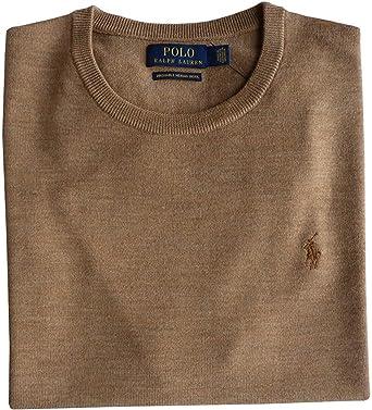 Polo Ralph Lauren Jersey, L, Flequillo Logo RL Marrón Lavable ...