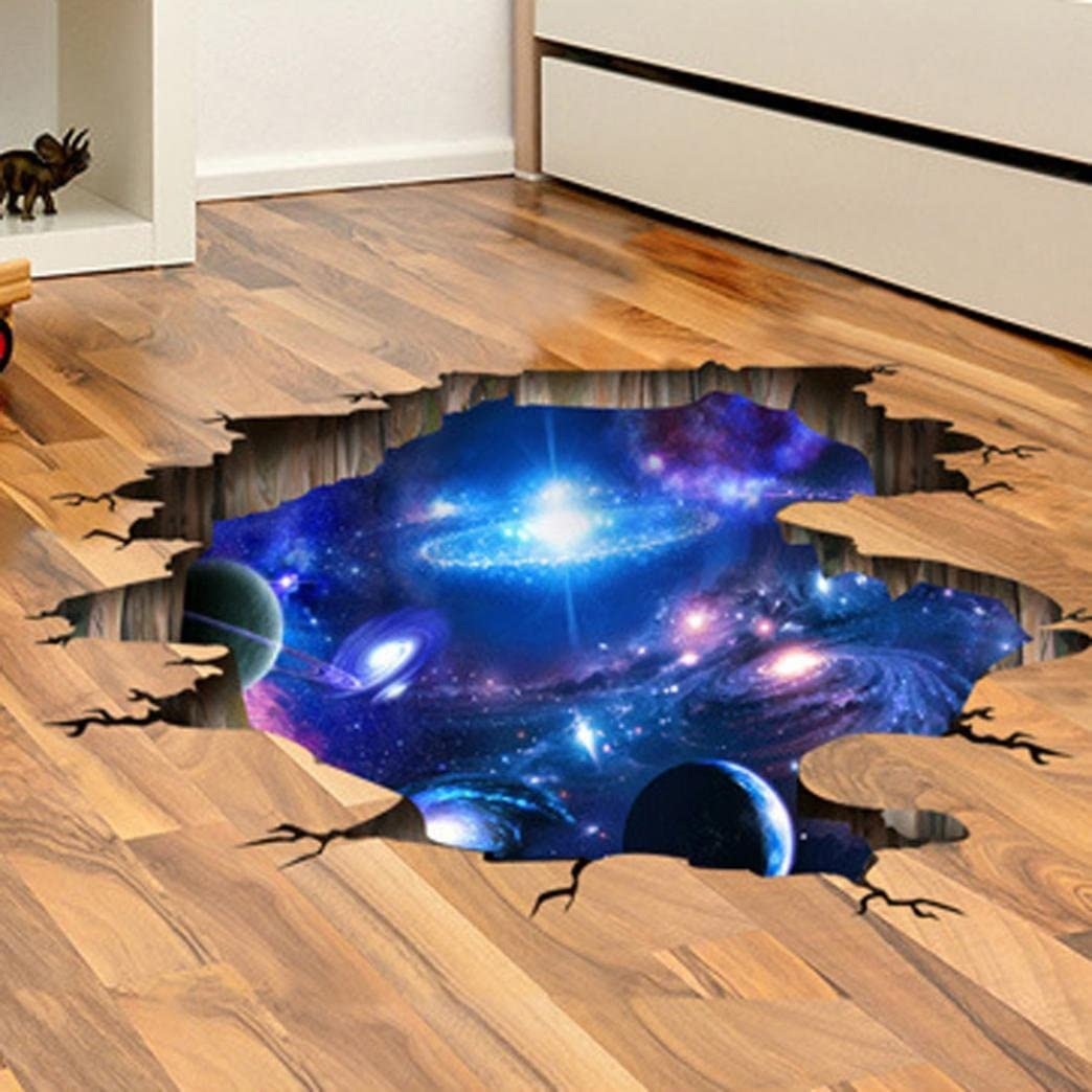 3D Bridge Floor//Wall Sticker Removable Mural Decals Vinyl Art Living-Room Decor