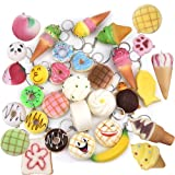 Outus Soft Squishies Toy Charms Cellphone Holder Hand Pillow Toy, Assorted Patterns, Set of 10