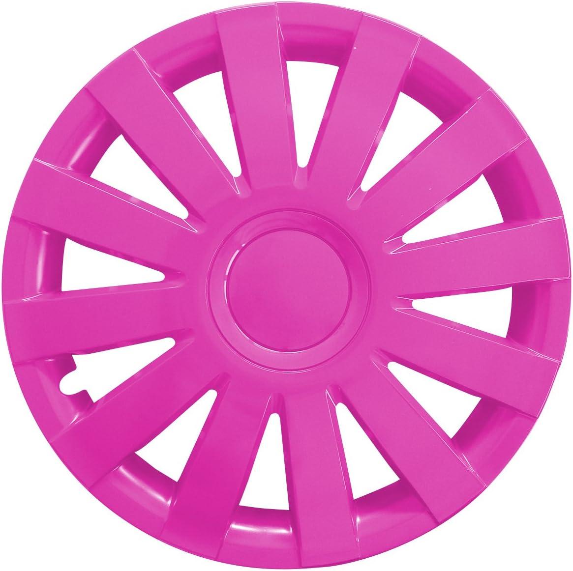 Eight Tec Handelsagentur Farbe Größe Wählbar 4er Set 15 Zoll Agat Pink Radkappen Radzierblenden Radabdeckungen Universal Auto