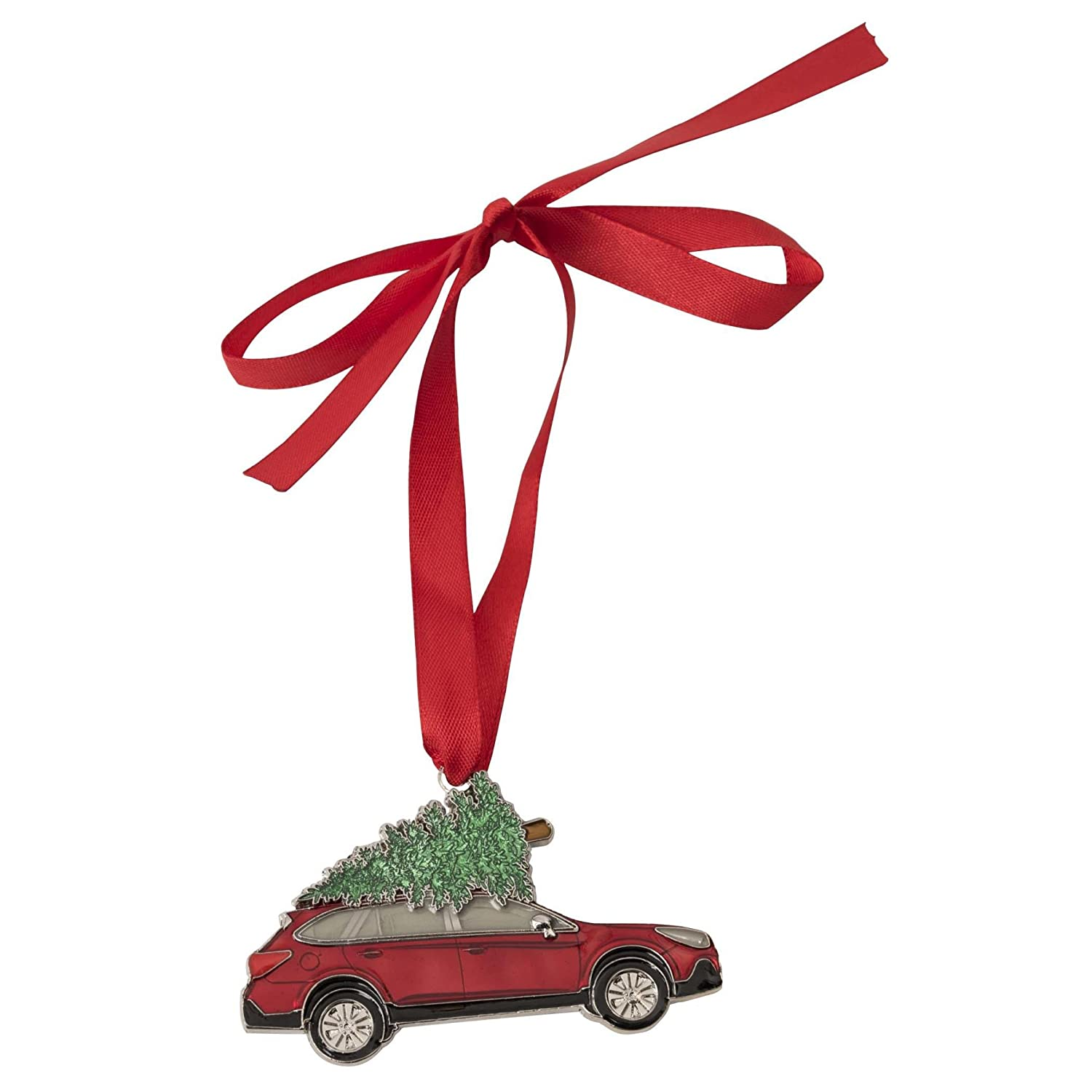 Official Christmas Subaru Outback Tree Ornament Outback Legacy Xmas Red Gift Box