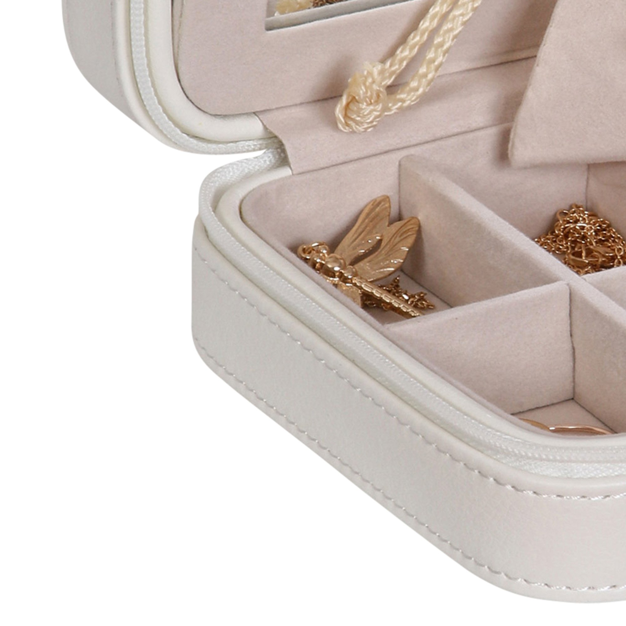 Mele & Co. Dana Travel Jewelry Case in Faux Leather (Ivory) by Mele & Co. (Image #5)
