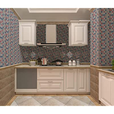 Buy Mosaic Paper 17 71 X 118 Self Adhesive Removable Wallpaper Bathroom Kitchen Cabinet Home Decoration Anti Water Oil Proof Wallpaper Removable Surfaces Easy To Clean Online In Italy B07qlr472j
