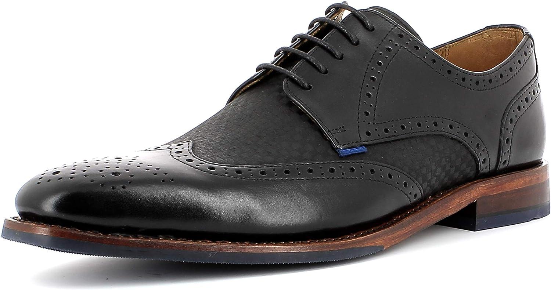 Checked schwarz 40 EU Gordon&Bros Herren Businessschuh, Milan 5661 M&au ;nner Rahmengen&au ;hte Halbschuhe