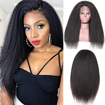 c5bfd4165 Beauty Forever Kinky Straight 360 Lace Front Wig,Brazilian Remy Hair Italian  Yaki Long Straight