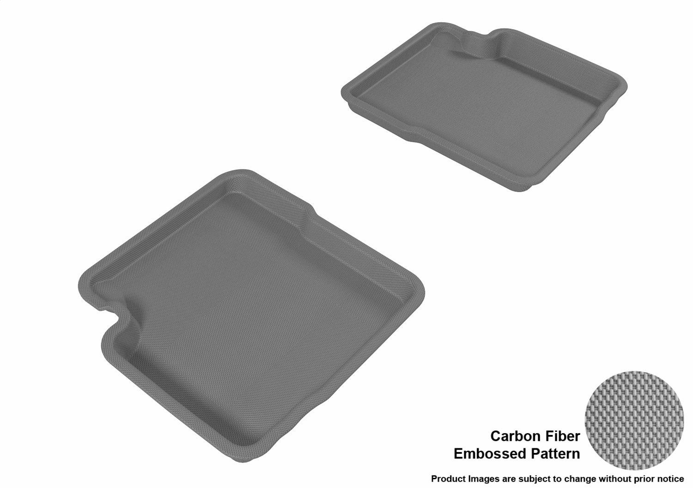 Kagu Rubber 3D MAXpider Second Row Custom Fit All-Weather Floor Mat for Select Fiat 500 Models Tan L1FA00321502
