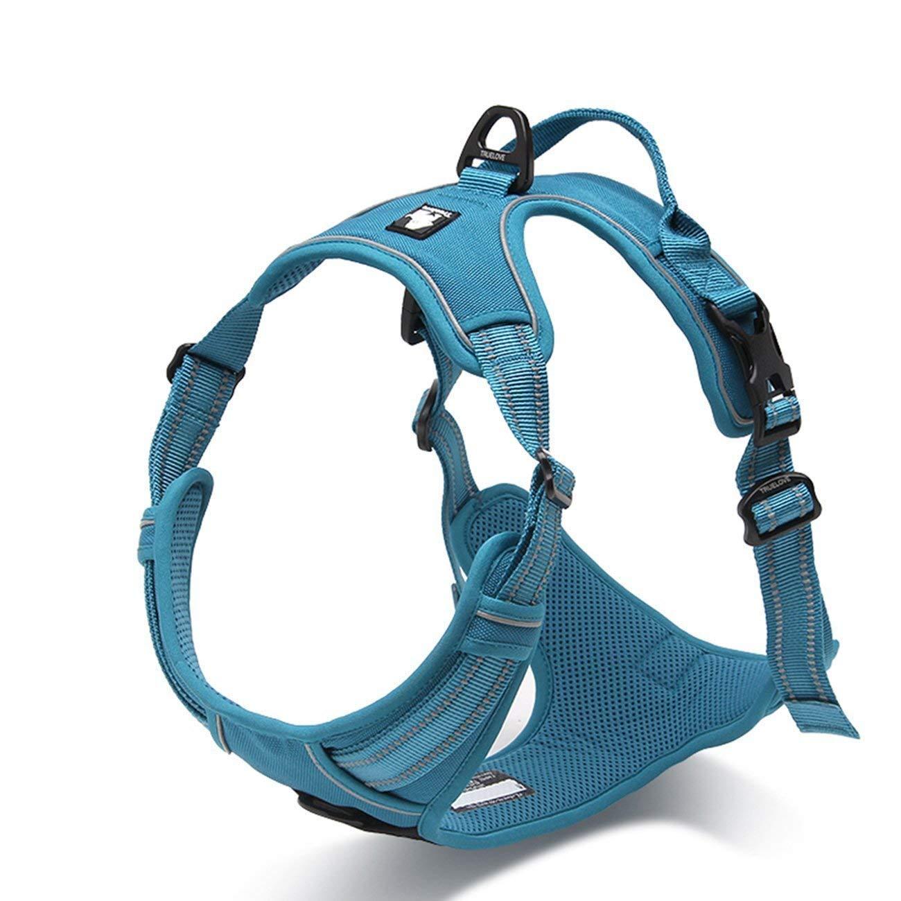 TRUE LOVE Adjustable No-Pull Dog Harness Reflective Pup Vest Harnesses Comfortable Control Brilliant Colors Truelove TLH5651(Blue,L) by TRUE LOVE