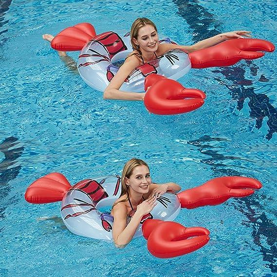 Amazon.com: MENGDUO Flotador de piscina hinchable gigante ...