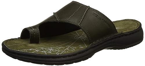 7abd9e2a54c Weinbrenner Men s Dormer Olive Leather Flip Flops Thong Sandals-8 UK India  (42