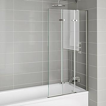 800mm Luxury Folding Bath Shower Glass Screen Pivot Door Panel   Right Hand