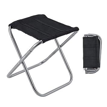 Amazon.com: Gonex - Taburete plegable para camping, ligero y ...