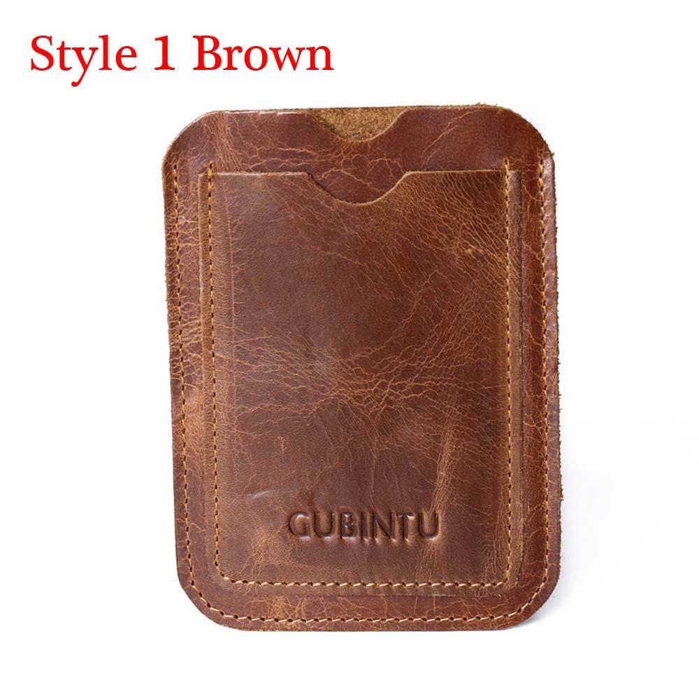 Homnrss メンズ IDクレジットカードホルダー Billford 本革 マネークリップ 小銭入れ 二つ折り財布 Style 1 Brown NA B07GFG3NJP  Style 1 Brown