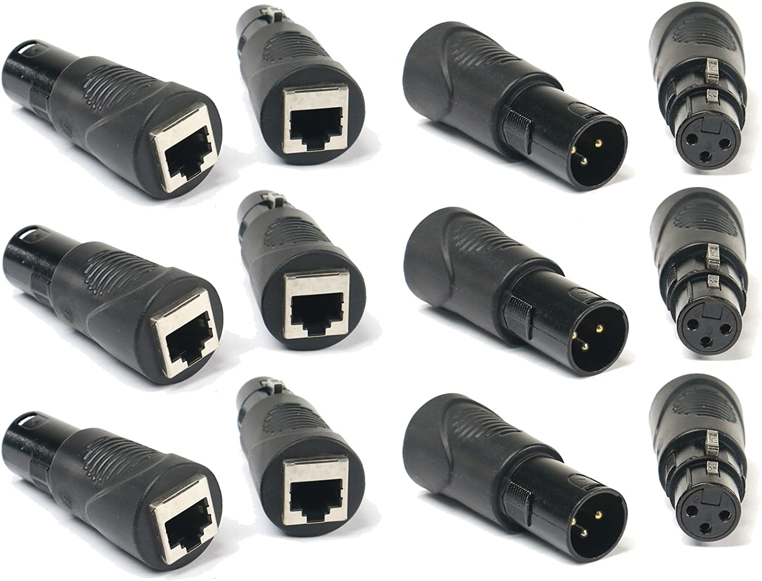 Sweex 3 Pin Male XLR Socket to 5 Pin Female DMX Plug Adapter Cable Lead 0.30 m