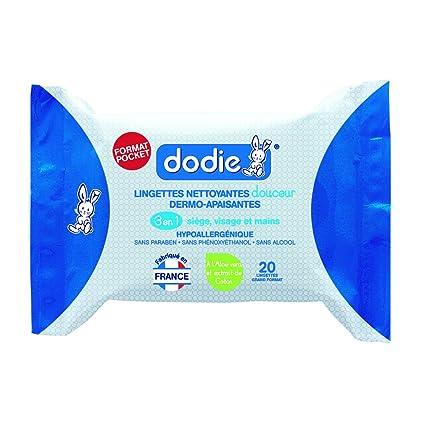 Dodie 2601000 - Toallitas 3 en 1 formato de bolsillo