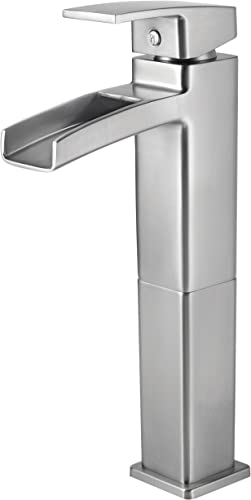 Pfister GT40DF0K Kenzo Single Control Waterfall Vessel Bathroom Faucet in Brushed Nickel