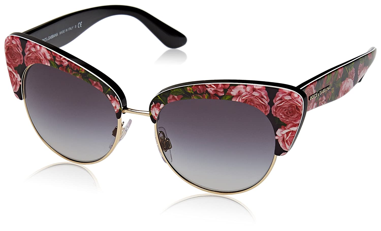 7603df14a846 Amazon.com  Sunglasses Dolce  amp  Gabbana DG 4277 31278G PRINT ROSE ON  BLACK  Clothing
