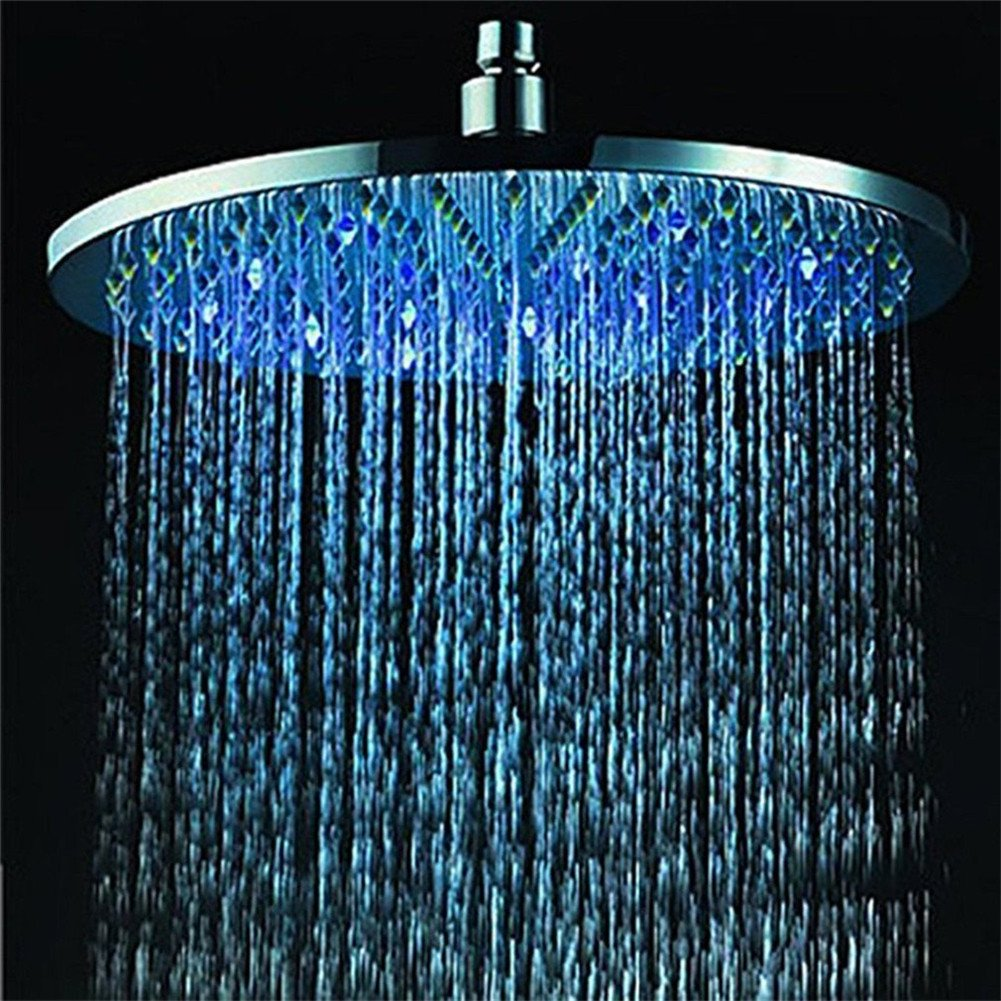 Crystalcity 6662® 7 Colors Changing LED Shower Head Romantic Light Home  Bathroom Showerhead     Amazon.com