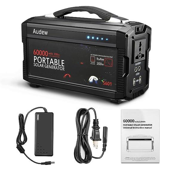 Review Audew 220Wh/60000mAh Portable Battery