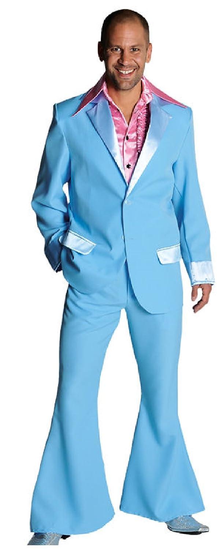 M207201-13 hellblau Herren Disco Anzug-Kostüm