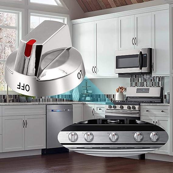 ALVAR DG64-00473A - Pomo para quemador (5 unidades, con anillo de potencia reforzado, compatible con la gama Samsung NX58F5700WS NX58H5600SS NX58H5650WS NX58J7750SS: Amazon.es: Bricolaje y herramientas