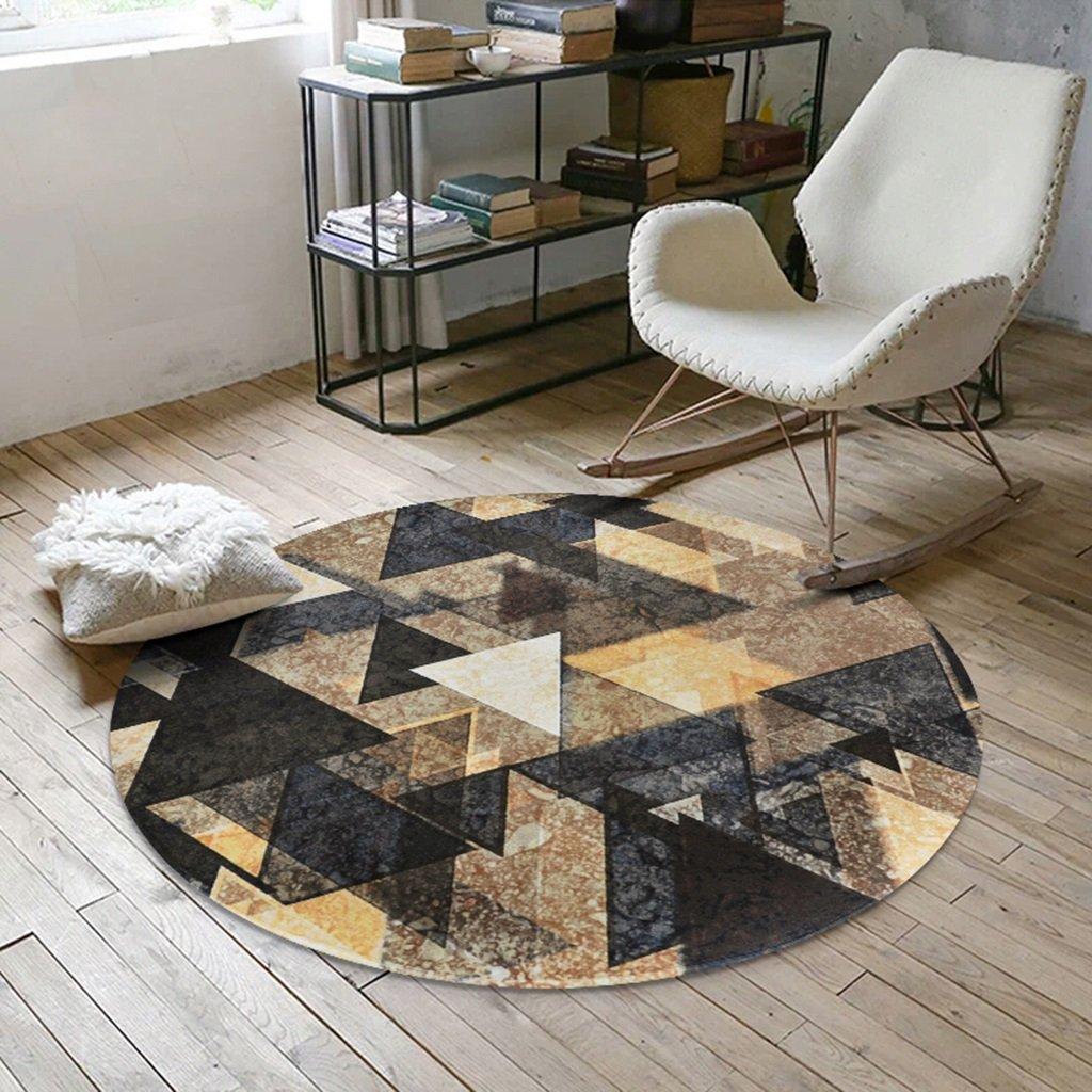 SESO SESO SESO UK- Norbic Geometric weichen Teppich, rutschfeste Runde Teppich für Schlafzimmer Wohnzimmer (Farbe    2, größe   150cm) B074KC4T44 Teppiche bd56c4