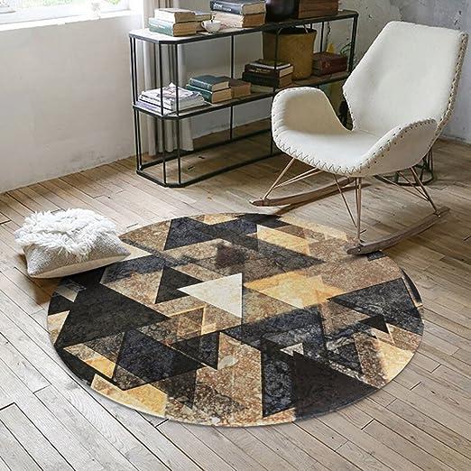 SESO UK- Norbic Geometric weichen Teppich, rutschfeste Runde Teppich für  Schlafzimmer Wohnzimmer ( Farbe : #2 , größe : 180cm )