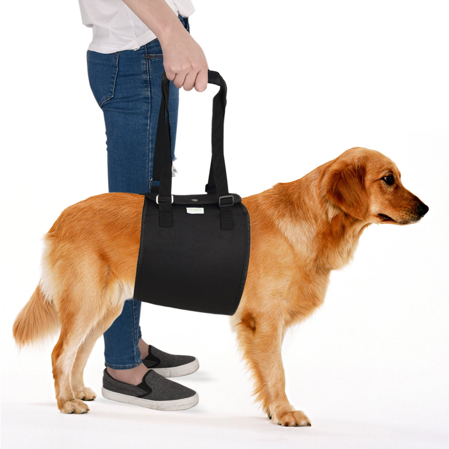 IN HAND Dog Support Harness, Dog Lift Harness with Adjustable Support Sling for Canine Aid, Helps Canine Arthritis, Rehabilitation, Poor Stability, Joint Injuries and Injured Dogs Walk