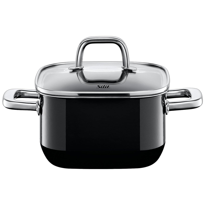 Silit 鍋 クアドロ ローキャセロール 16cm ブラック S4716270011   B00IF2079O