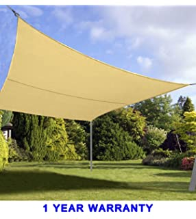 Quictent 24 X 24 Ft 185G HDPE Square Sun Sail Shade Canopy UV Block Top  Outdoor