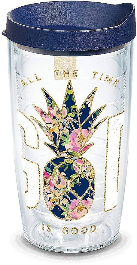 cb6f3e40e6e Tervis 1304229 Simply Southern God Is Good Pineapple 16 oz Tumbler with lid  16oz Clear