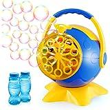 Theefun Bubble Machine, Automatic Bubble Blower Toys with 800+ Bubbles Per Minute & 2 Bottles of Bubbles Solution Refill, Dur