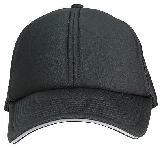89b43401f662f DALIX Mesh Trucker Cap Sandwich Bill Adjustable Snapback 6 Panel Plain Hat  Black at Amazon Men's Clothing store: Baseball Caps