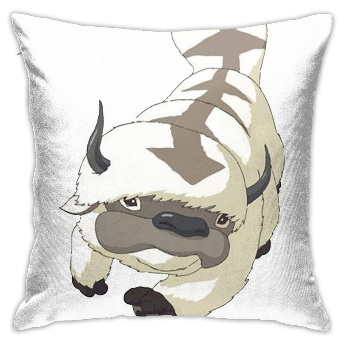 HQSL Appa Sky Bison Japanese Anime Flying The Last Airbender Avatar Decorative Throw Pillow Covers for Sofa Couch Cushion Pillow Cases 18x18 Inch