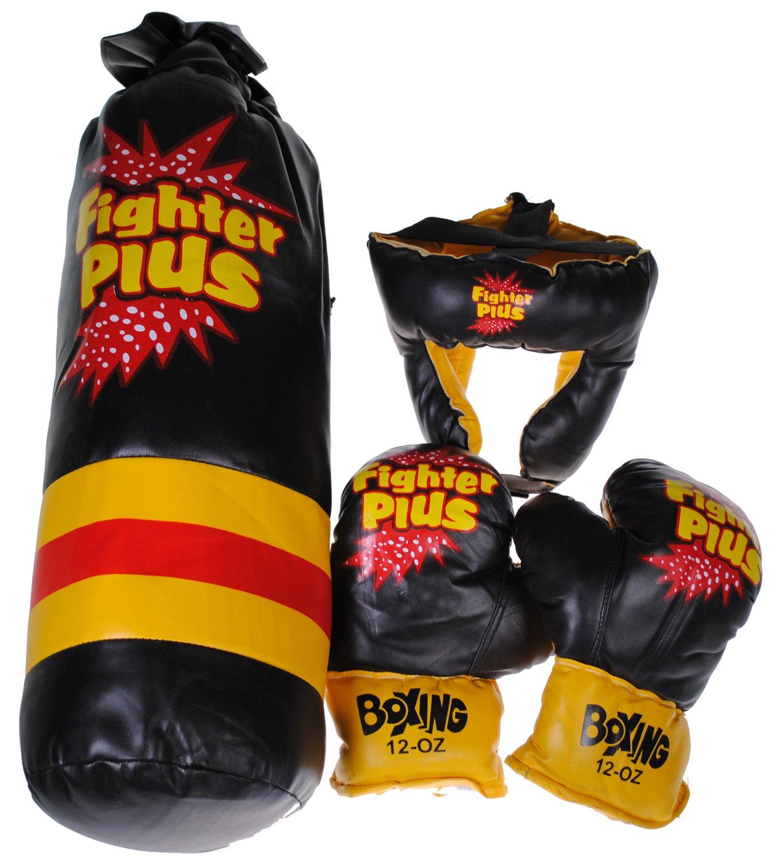 Fighter Plusボクシングセット – 12 oz手袋/ Headgear / Punching Bag B075X25DW5