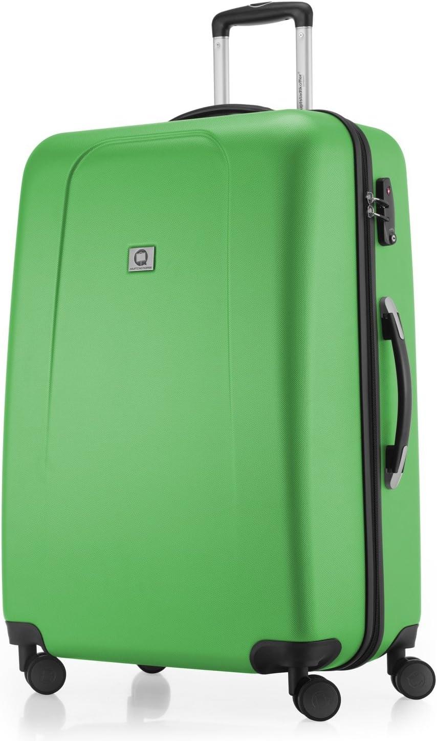 Hauptstadtkoffer® - Maleta de viaje (diferentes tamaños y colores, con 4 ruedas que giran 360 grados, candado TSA) verde verde large
