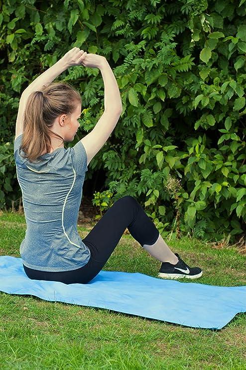 Style Slice Go Toalla de microfibra secante, ligera, absorbente, toalla de viaje, para deportes, playa, gimnasio, yoga, natación, acampadas, senderismo, ...