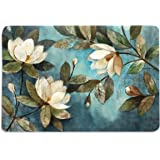 Walls and Murals Cotton HD Digital Floral Painting Dining Table Place Mats (Multicolour, 12x18-inch) - Set of 6