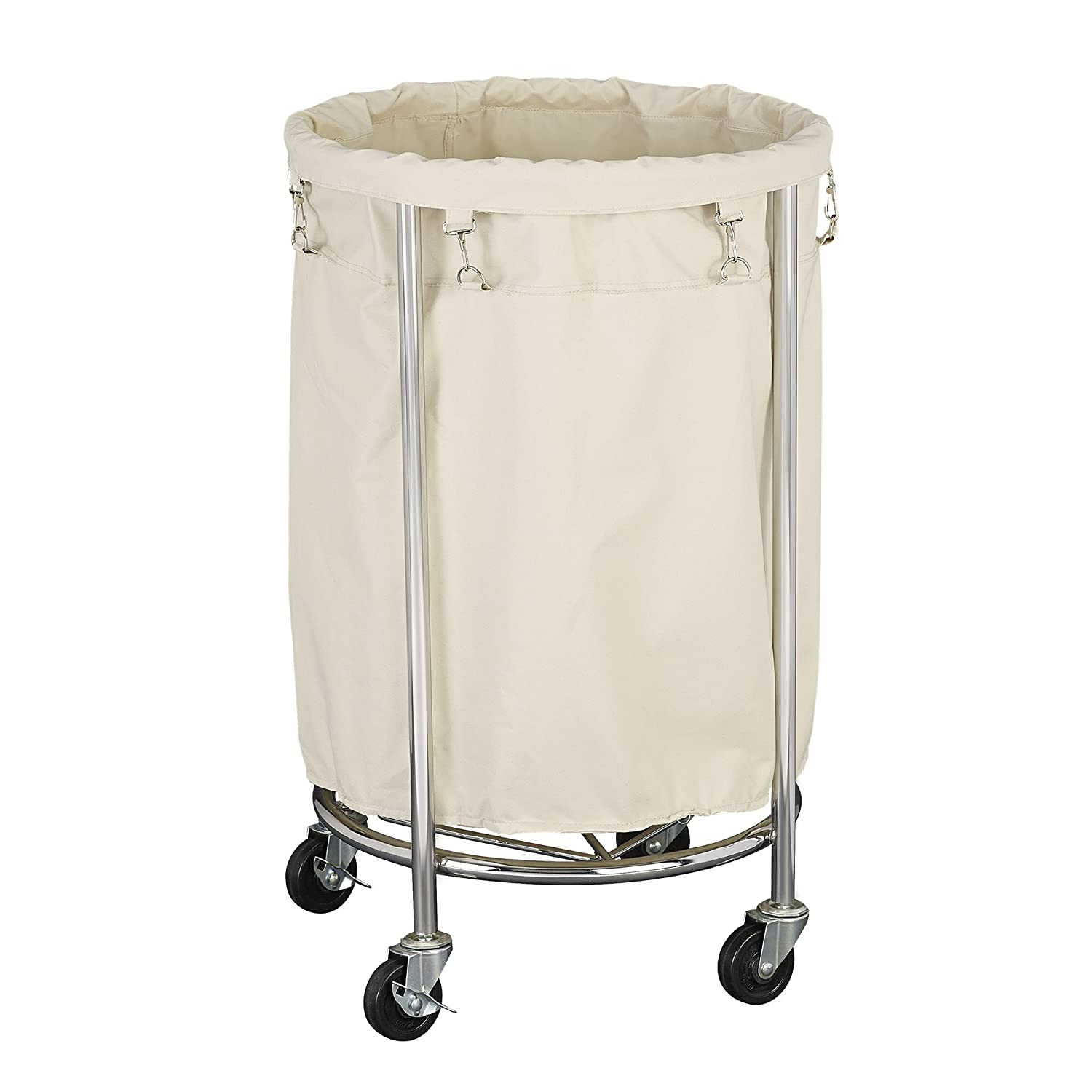 Laundry Hamper With Wheels Part - 25: Amazon.com: Household Essentials Commercial Round Laundry Hamper: Home U0026  Kitchen
