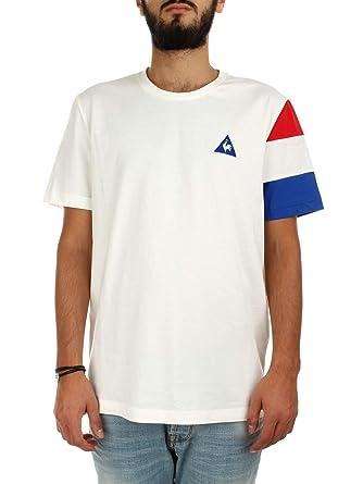 Le Coq Sportif T-shirt Tricolore Blanc T-shirts Manches Courtes Homme  Multisports 74fd037d74e6