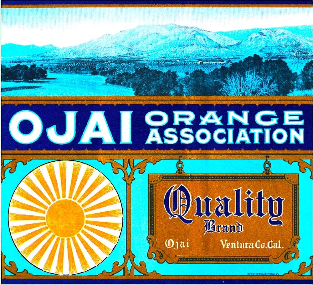WholesaleSarong Ojai Ventura County Quality Orange Fruit Crate Label Poster Home Accent Wall Decor unframed Wall Decor